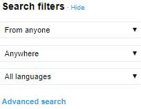 Twitter Conversations Search Filters