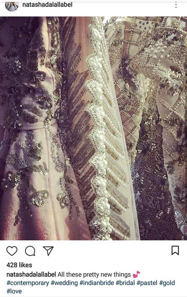 Indian Fashion Designers on Instagram Natasha Dalal