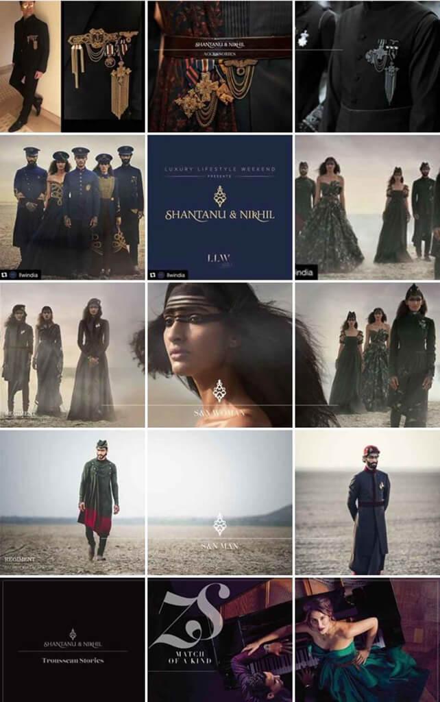 Indian Fashion Designers on Instagram Shantanu and Nikhil