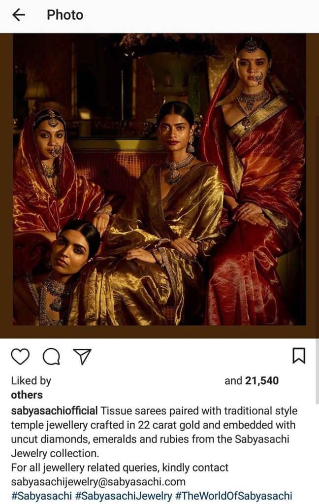 Indian Fashion Designers on Instagram bridesofsabyasachi