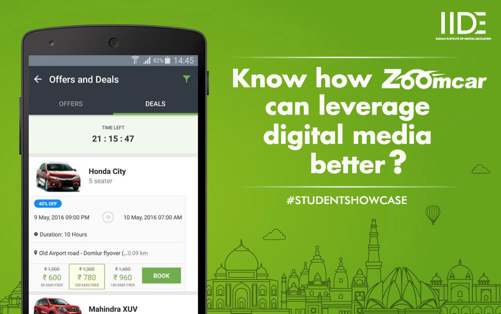 zoomcar's digital marketing strategy, zoomcar, name of student who made PPT