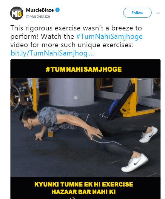 Muscleblaze Marketing Campaign Tum Nahi Samjhoge