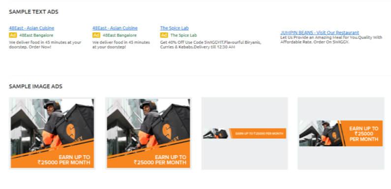 Swiggy Digital Marketing Strategy-Paid Advertising
