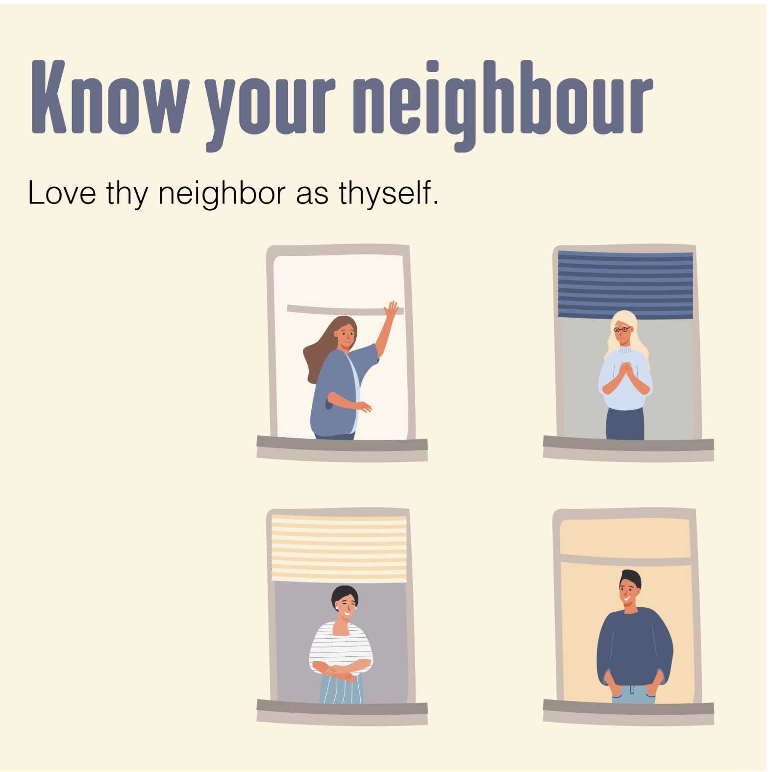 talk to your neighbours