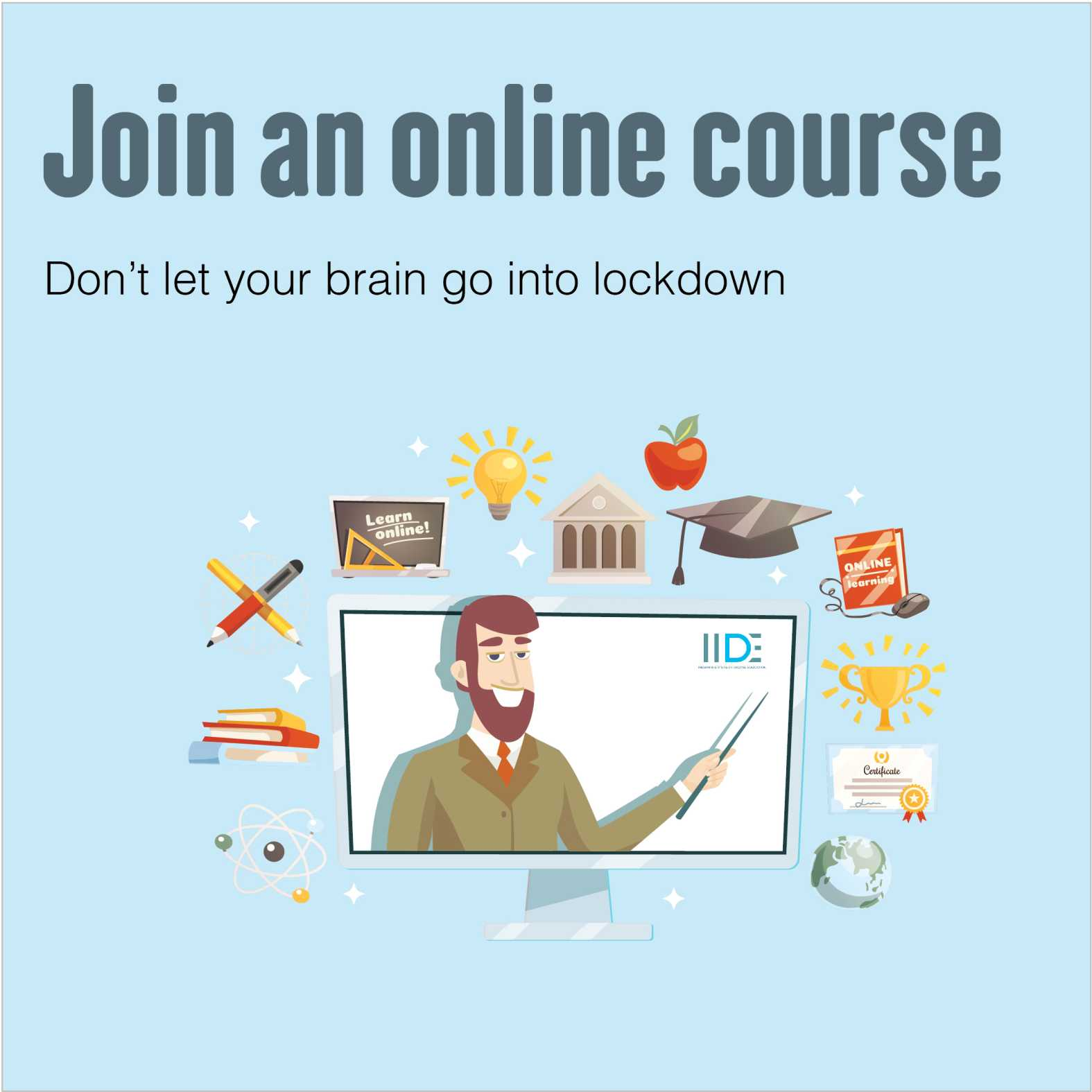 join an online course