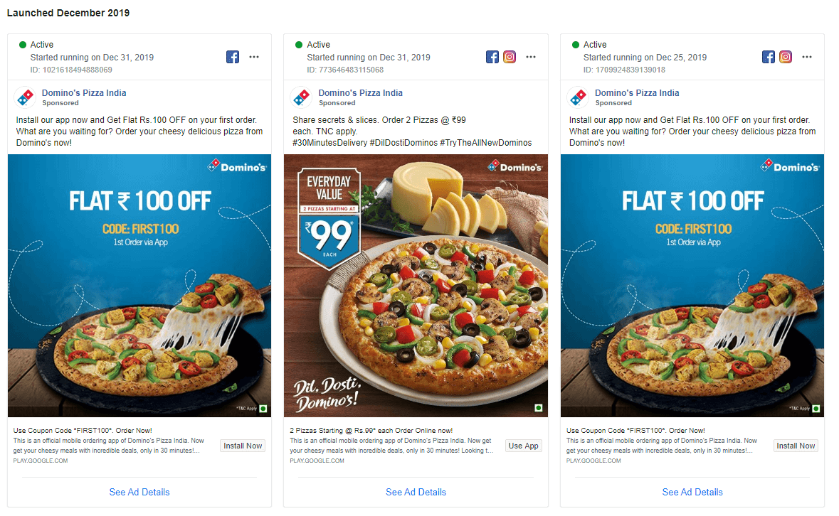 Domino's Marketing Strategy-Facebook Ads
