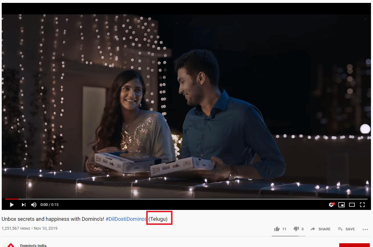 Domino's Marketing Strategy-Youtube Marketing
